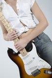 rocker κιθάρων κοριτσιών Στοκ φωτογραφία με δικαίωμα ελεύθερης χρήσης