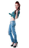 Rocker κορίτσι Στοκ φωτογραφία με δικαίωμα ελεύθερης χρήσης