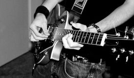 Rocker. In black and white stock photography