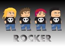 Rocker cartoon characters Royalty Free Stock Photos