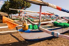 Rocker catamarans, Lombok, Indonesia Stock Photography