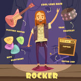 Rocker Character Pack For Man Stock Image