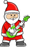 Rocker Christmas Holiday Santa Stock Photo