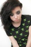 Rocker Crying Girl Stock Photos