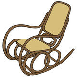 Rocker. Drawing of old wooden rocking chair Stock Photography