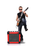 Rocker with electrical guitar Royalty Free Stock Image