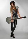 Rocker girl stock photo