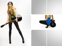Rocker girl Stock Image