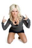 Rocker Girl. Beautiful isolated rocker chick girl stock photography