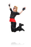 Rocker girl jumping Royalty Free Stock Images