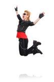 Rocker girl jumping Royalty Free Stock Images