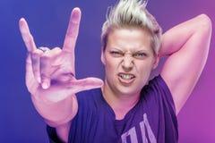 Rocker girl Royalty Free Stock Photos