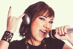 Rocker Girl Singing Stock Images