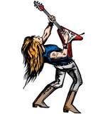Rocker guitarist solo Royalty Free Stock Image