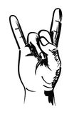 Rocker hand Stock Images