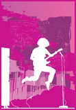Rocker jump purple Royalty Free Stock Photos