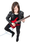 Rocker playing guitar Royalty Free Stock Photography