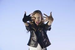 Rocker's sryle girl Stock Images