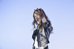 Rocker's style girl Stock Photo