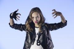 Rocker's style girl Royalty Free Stock Photo