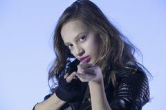 Rocker's style girl Stock Image