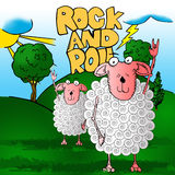 The rocker sheeps Royalty Free Stock Photography