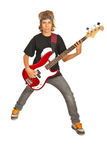 Rocker teen boy Royalty Free Stock Photos