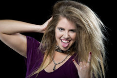 Rocker woman Royalty Free Stock Images
