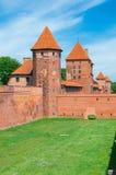 rockera befläckte sikten för borggårdEuropa den glass gotiska mest stora malbork poland Arkivfoton