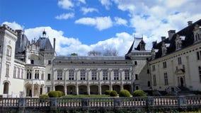 Rockera Chateau de Breze i Loiret Valley Frankrike royaltyfri fotografi