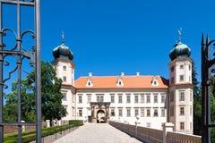 Rockera den Mnisek fröskidan Brdy, Bohemia, Tjeckien, Europa Arkivbild