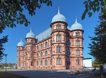 Slott Gottesaue i Karlsruhe, Tyskland Fotografering för Bildbyråer