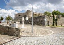 Rockera i den Abrantes staden, område av Santarem, Portugal Arkivbilder