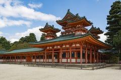 Rockera i hörnet, Soryuro, av den Heian relikskrin, Kyoto, Japan Arkivbild