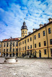 Rockera i Vitryssland, gränsmärken i Vitryssland, den Nesvizh slotten, resa Arkivbilder