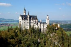 rockera neuschwanstein _ germany Arkivbild
