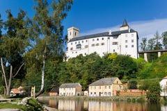 Rockera Rozmberk nad Vltavou, Tjeckien, Europa Royaltyfri Fotografi