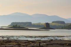 Rockera stalkeren, nord av Oban, Skottland Royaltyfri Bild