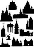 rockerar gammala torn royaltyfri illustrationer