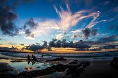 rockerar skyen Royaltyfri Foto