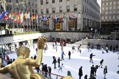 Rockerfeller center in new York city Royalty Free Stock Photos