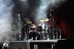 Rockers on the stage performing live Royalty Free Stock Images
