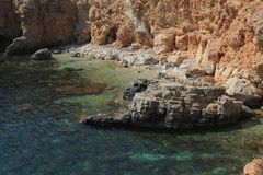 Rockery in Comino Gozo, Malta. Rockery in Comino Gozo in Malta Stock Photos