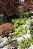 Rockery and Flowing water Stock Photography
