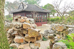Rockery in Humble Administrator's Garden. Humble Administrator's Garden is the representative works of Chinese Jiangnan classical garden.In 1997 was approved by royalty free stock photography