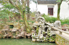 Rockery in Humble Administrator's Garden. Humble Administrator's Garden is the representative works of Chinese Jiangnan classical garden.In 1997 was approved by royalty free stock image