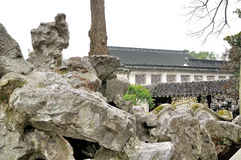 Rockery in Humble Administrator's Garden. Humble Administrator's Garden is the representative works of Chinese Jiangnan classical garden.In 1997 was approved by royalty free stock photo