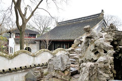 Rockery in Humble Administrator's Garden. Humble Administrator's Garden is the representative works of Chinese Jiangnan classical garden.In 1997 was approved by stock images