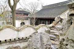 Rockery in Humble Administrator's Garden. Humble Administrator's Garden is the representative works of Chinese Jiangnan classical garden.In 1997 was approved by stock photos