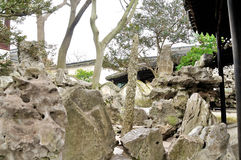 Rockery in Humble Administrator's Garden. Humble Administrator's Garden is the representative works of Chinese Jiangnan classical garden.In 1997 was approved by royalty free stock images